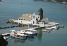 kláštor Vlaherna - ostrov Korfu