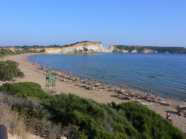 gerakas pláž ostrov Zakynthos
