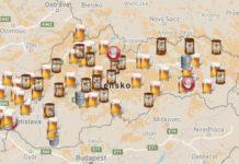 Mapa slovenskych pivovarov